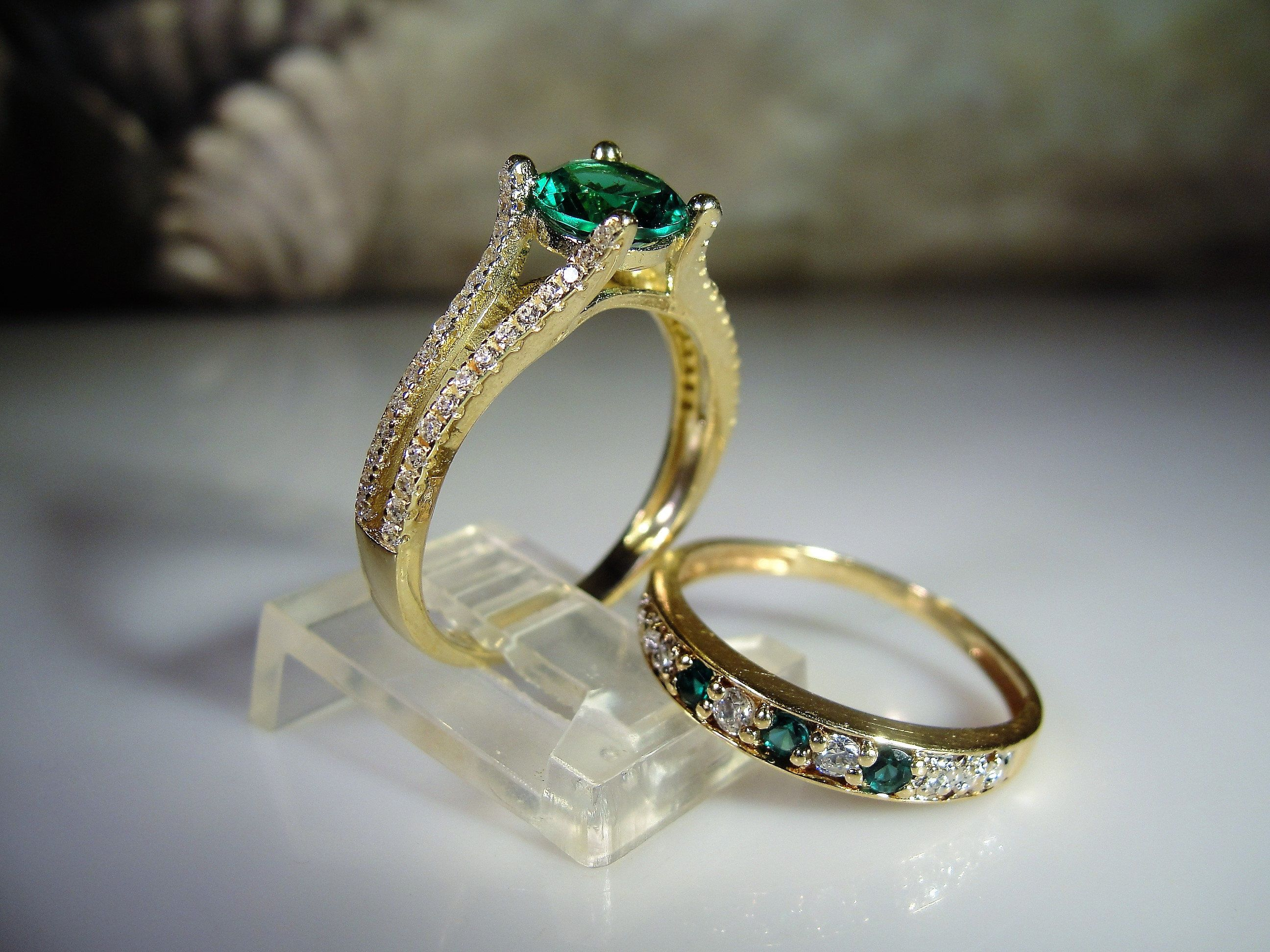 1.18Ct Round Cut Diamond 14K Yellow Gold Over Women/'s Wedding Wrap Ring Guard