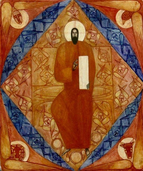 Christ Enthroned (contemporary) by Natalya Rusetska