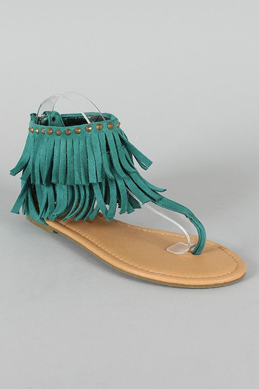 Teal Fringe Sandals Things For Cc S Closet Pinterest