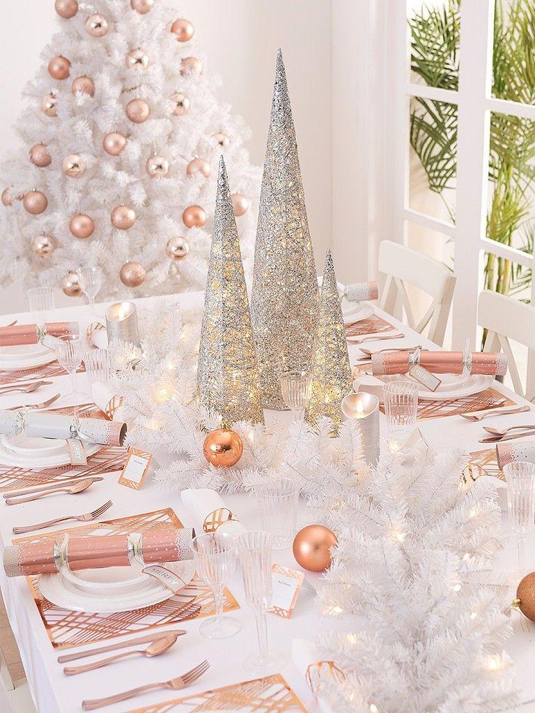 Deco Table Noel 2018 Tendance Couleur Metallisee Deco Table