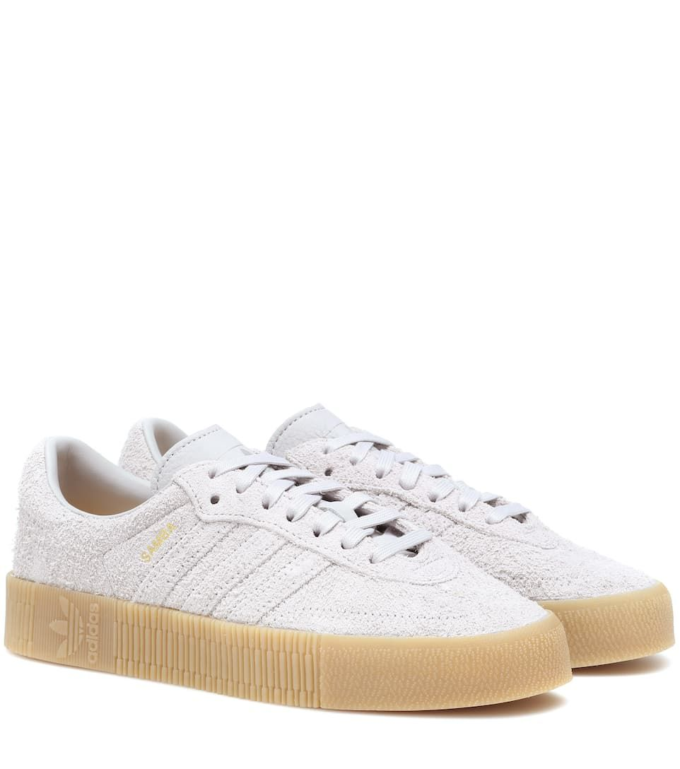 Humanista Eléctrico matiz  ADIDAS ORIGINALS | Samba Rose Suede Sneakers - Grey Two/Grey Two/Gum | $  107 | Adidas Originals elevates the classi… | Sneakers, Suede sneakers,  Leather shoes woman