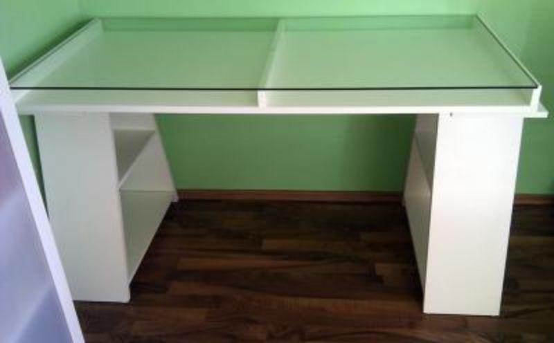Schreibtisch Weiss Modern Glasplatte Module In Nordrhein