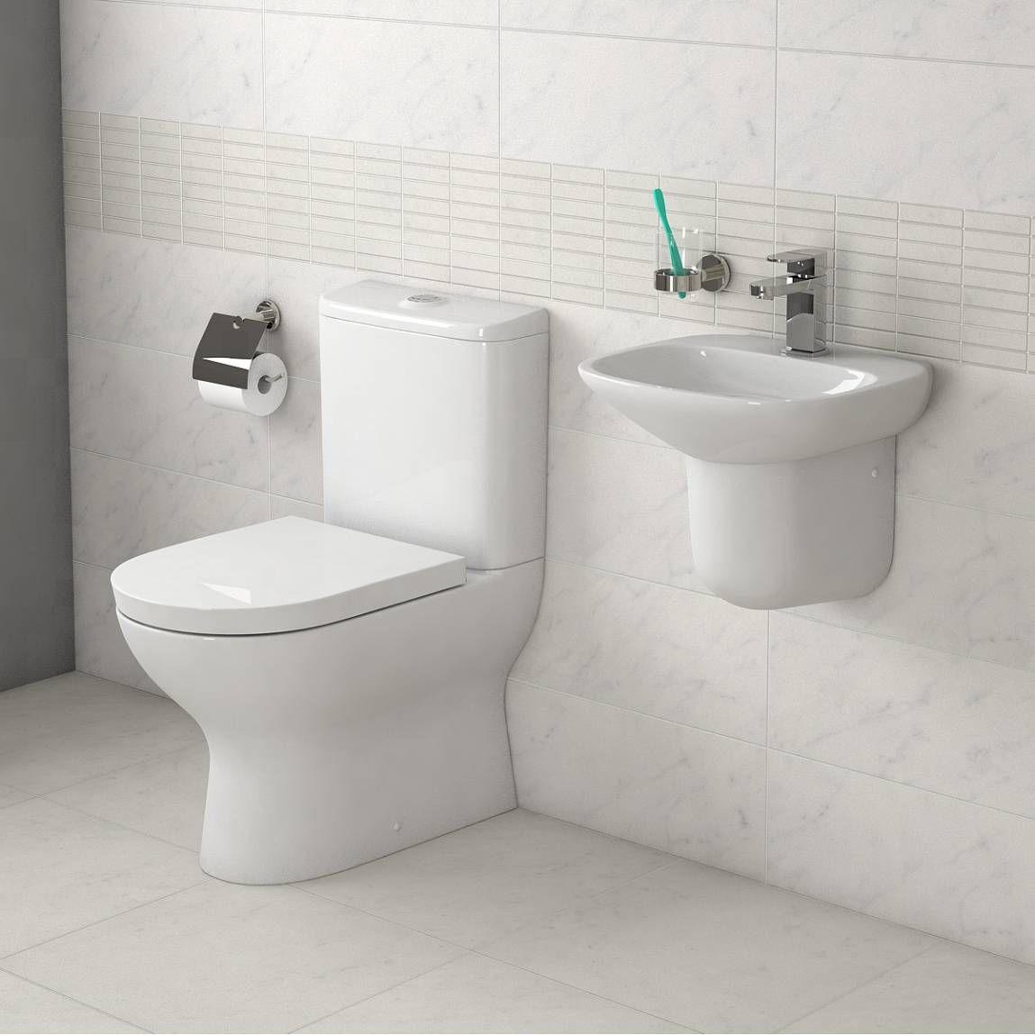 Fairbanks  Piece Cloakroom Suite Small Toilet Pinterest - Small 4 piece bathroom