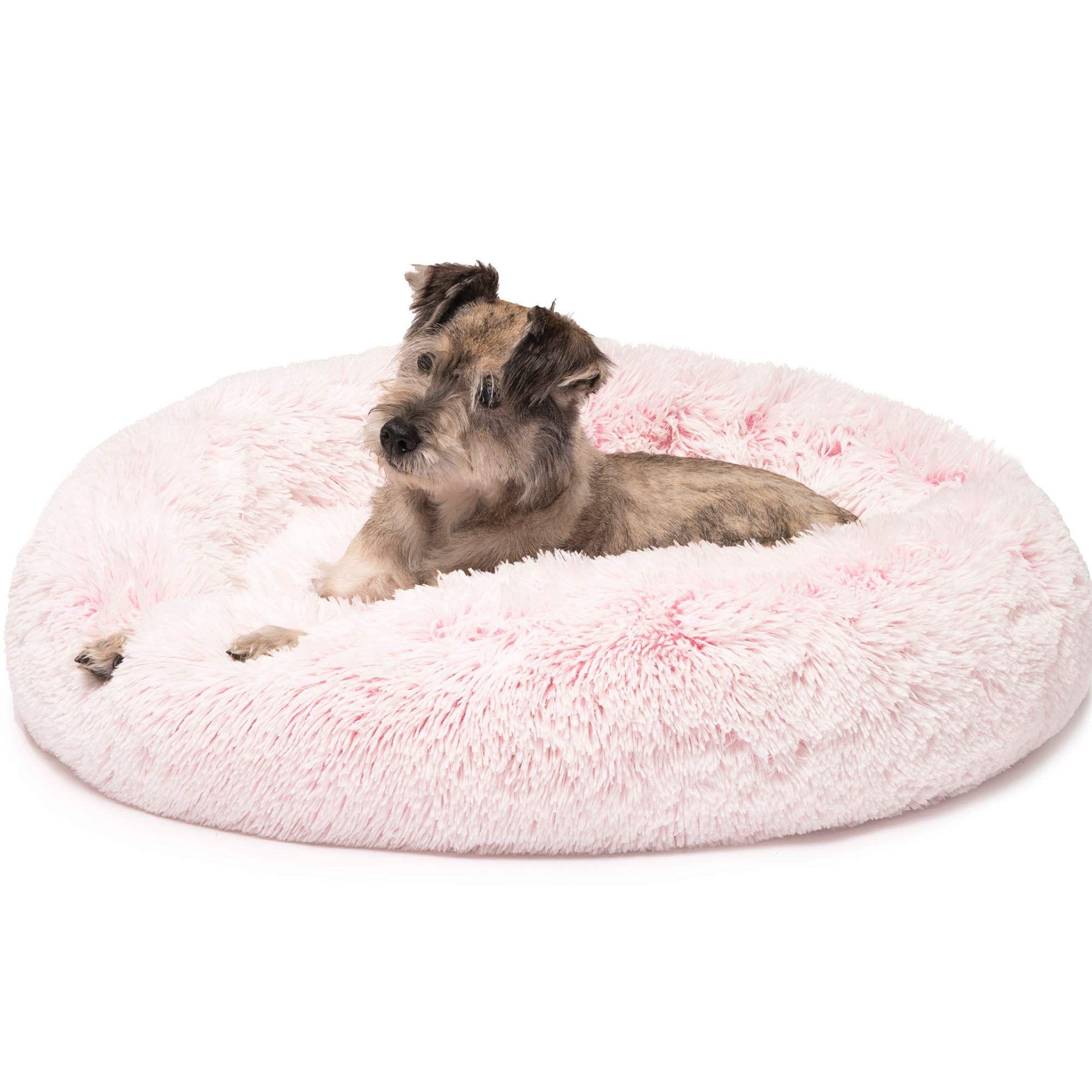 Friends Forever Fluffy Pink Dog Bed For Pet Comfy You Can Find More Details By Visiting The Image Link Pink Dog Beds Orthopedic Dog Bed Faux Fur Dog Beds
