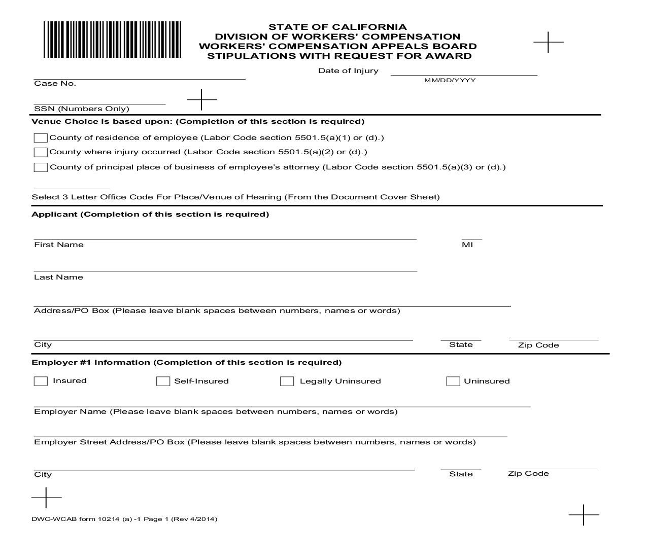 Blank Po Form This Is A California Form That Can Be Used For General Within .