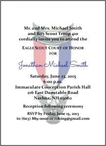 New Simple Eagle Scout Invitation Eagle Scout Ceremony