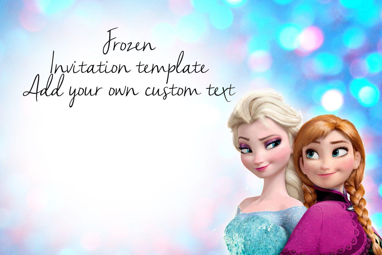 Frozen Party Invitations Template Invitation Or Disney