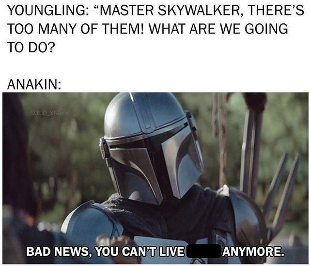 Star Wars Star Wars Meme Funny Star Wars Mandalorian Baby Yoda Star Wars Memes Star Wars Humor Funny Star Wars Memes Star Wars Memes