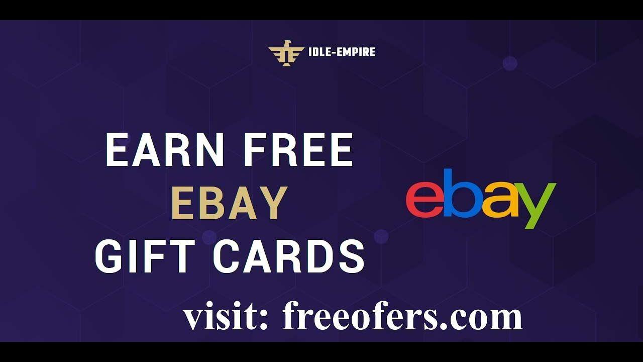 Get Free Ebay Gift Card Code Voucher New In 2020 Ebay Gift Digital Gift Card Gift Card