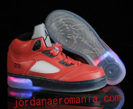8e91d206dd5a Air Jordan 5 + Nike Air Force 1 Fusion Glow In The Dark Raging Bull ...