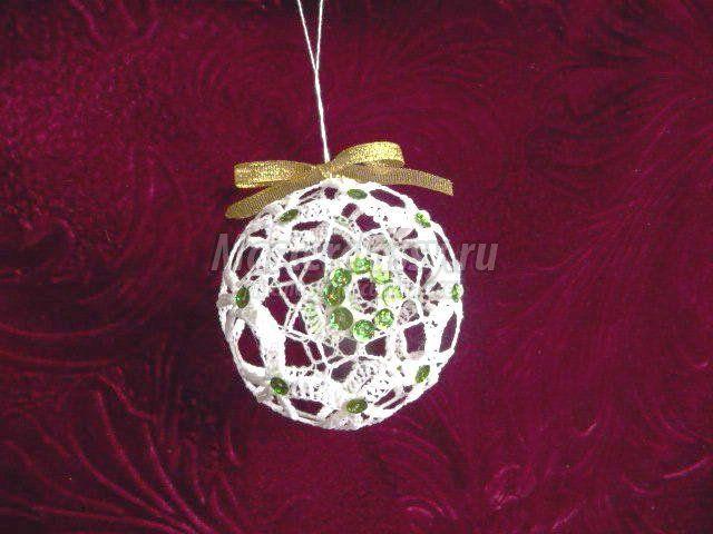 елочные игрушки вязаные шары крючком схемы и описание шары