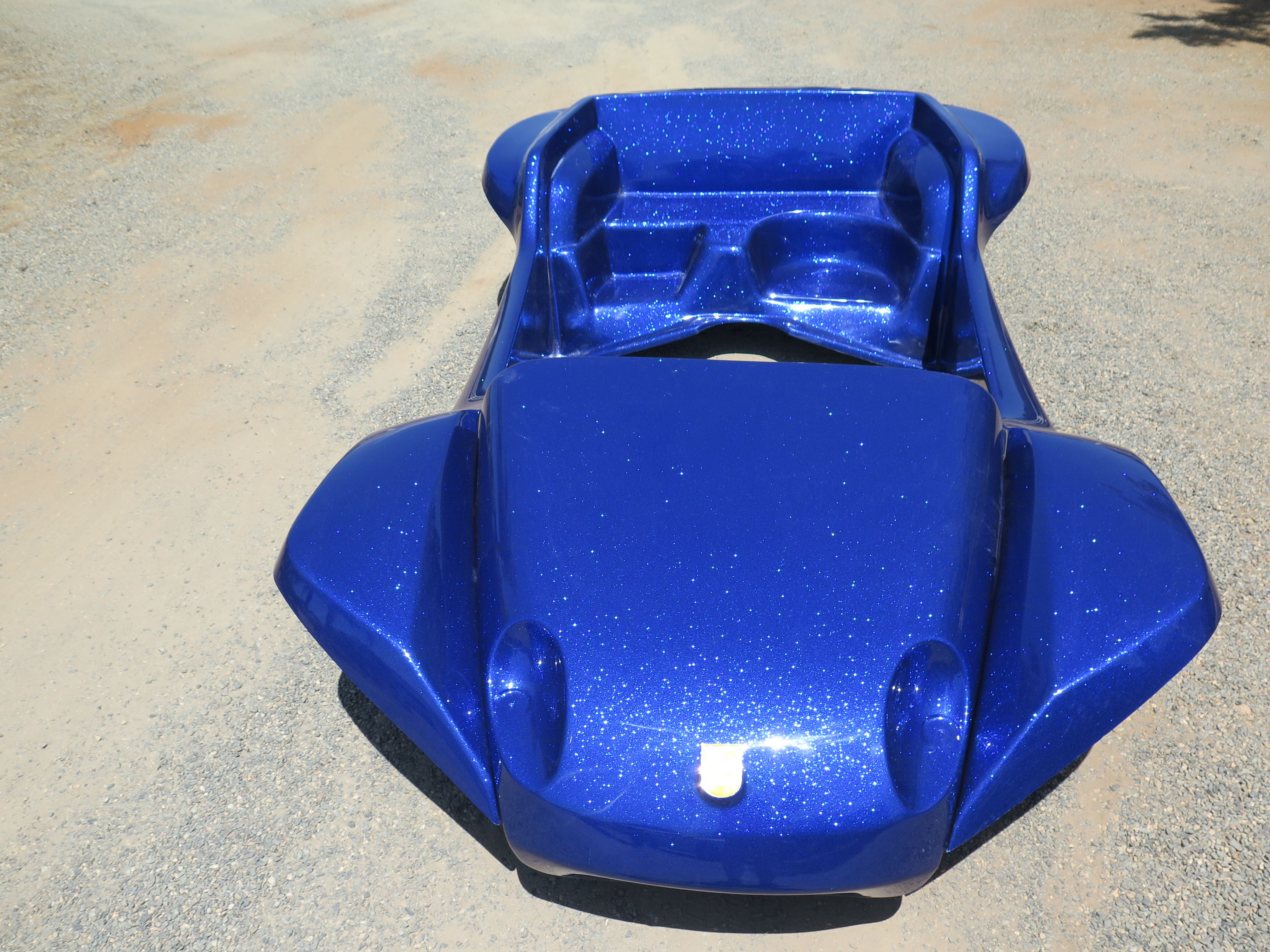 Kick-Out Traditional body in a Canadian Blue metalflake - Meyers Manx kit body
