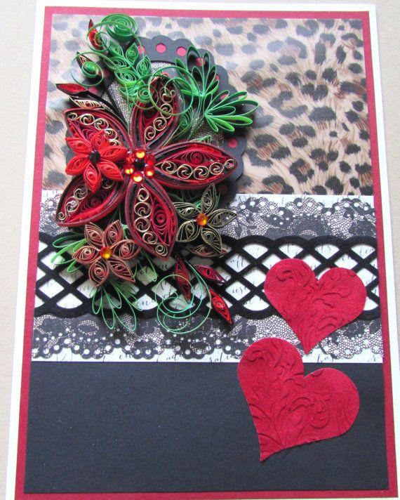 Unframed art in greeting card format por HeirloomQuilling en Etsy - greeting card format