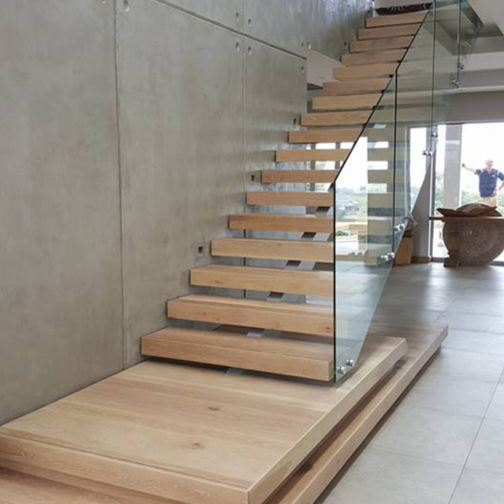Best Hot Item Contemporary Staircase With Frameless Glass 640 x 480