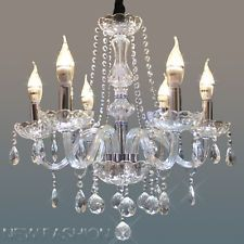 Clear 6 light Marie Therese Crystal Chandelier Pendant Ceiling Light Lamp