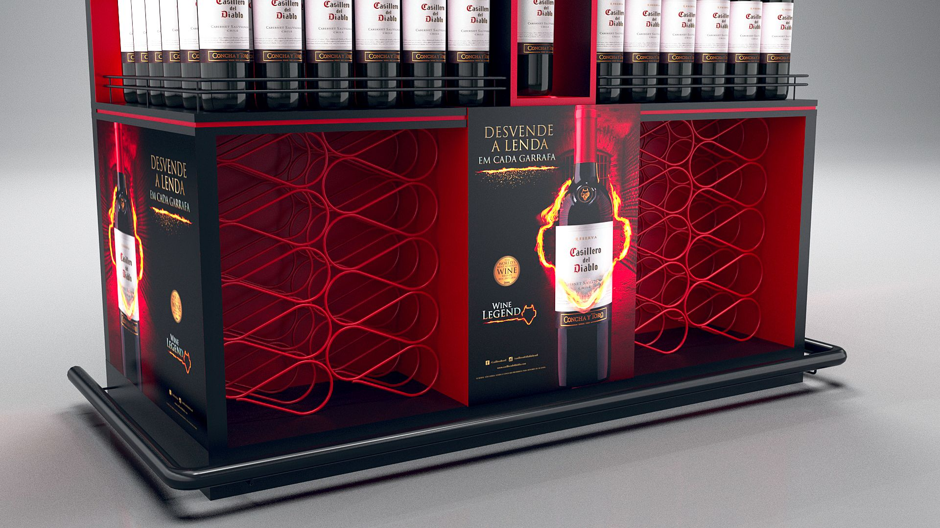Casillero Del Diablo Creative Professional Liquor Display