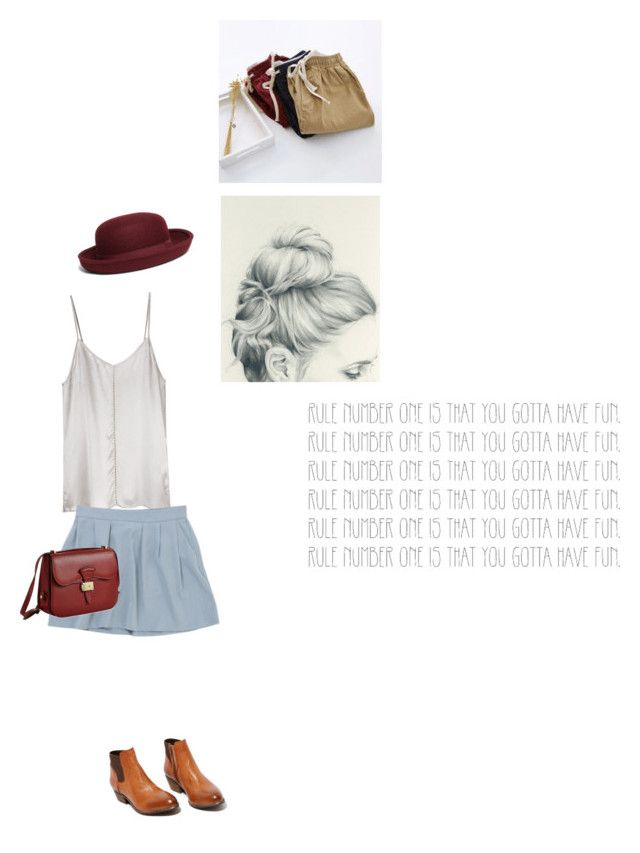 """lean on me"" by isabella-singery ❤ liked on Polyvore featuring Ian R.N., Ganni, Steve Madden, Dressage Collection, Brooks Brothers, GE and Bonbon"