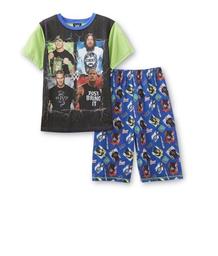 9cf50fc5e217b WWE John CENA Pajamas Boy's 10/12 NeW Shirt Shorts Set Randy Orton The Rock  #WWE #PajamaSets