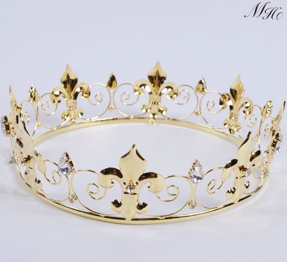 Cheap Round Tiara Buy Quality Crown Directly From China Wedding Bridal Suppliers Imperial Medieval Golden Clear Rhinestones Diadem