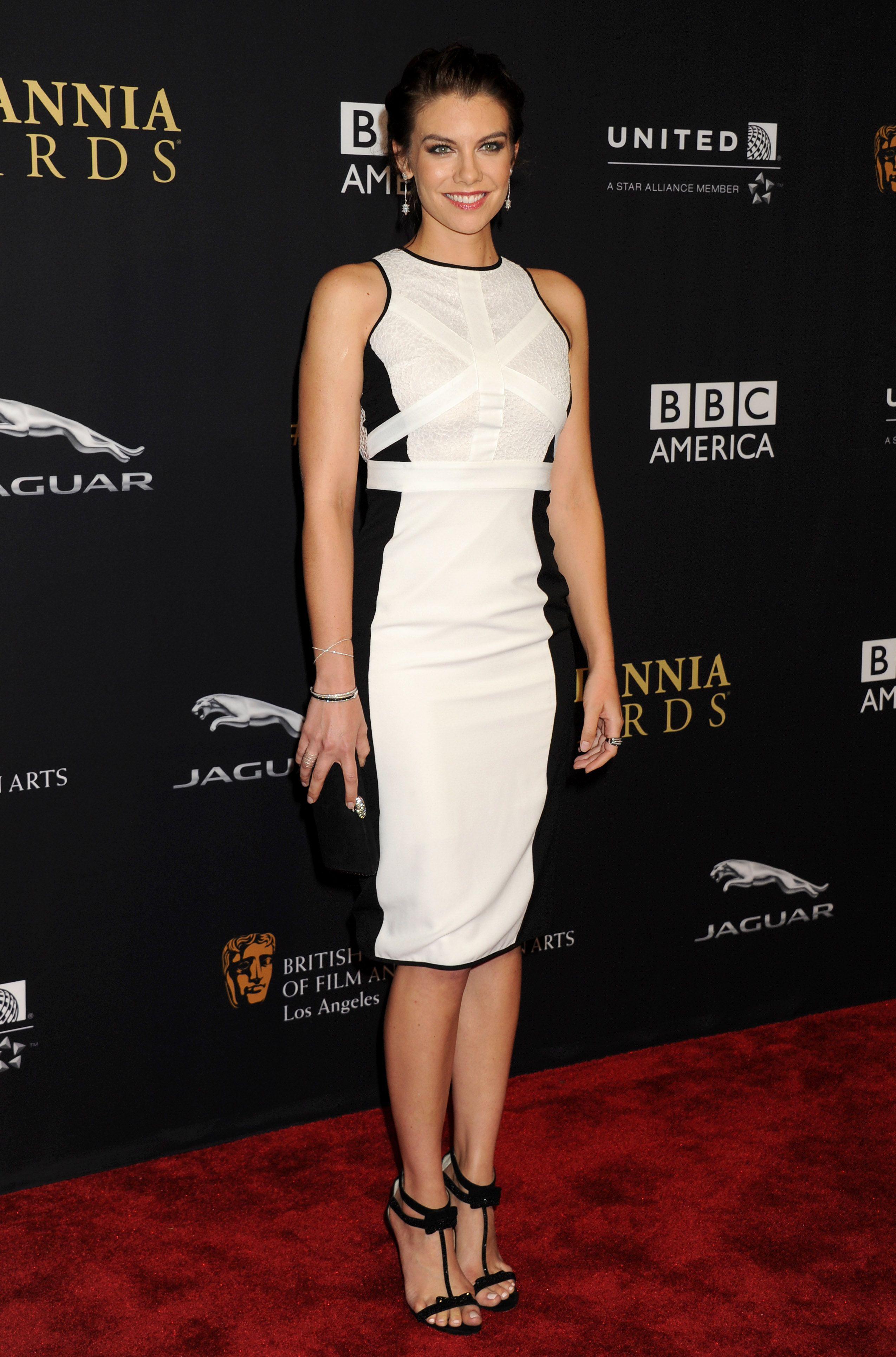 Lauren cohan u u baftaus uthe britannia awardsu in