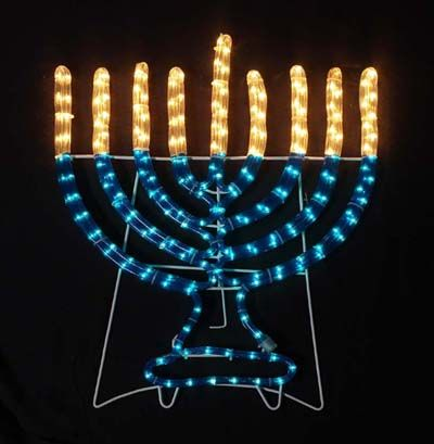 Large indoor/outdoor Electric Menorah decoration - Lawn - Large Indoor/outdoor Electric Menorah Decoration - Lawn Hanukkah