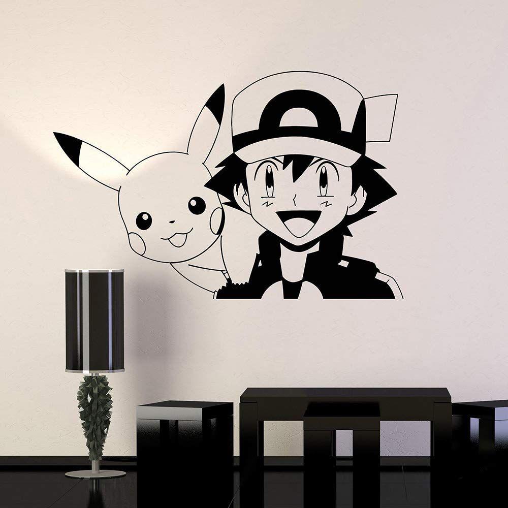 Pokemon Wandtattoo für das Kinderzimmer. Anime Manga Vinyl