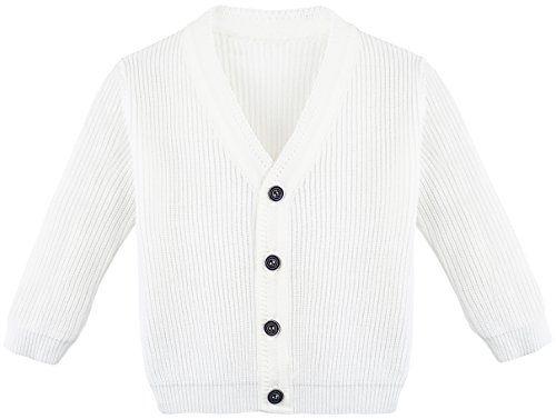 Lilax Baby Boys Basic Long Sleeve V-Neck Classic Knit Cardigan Sweater 9-12 b05f16f2d