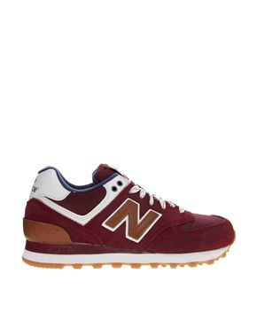New Balance 574 Canteen Burgundy Trainers   Style   Sneakers ... 82354c7119e