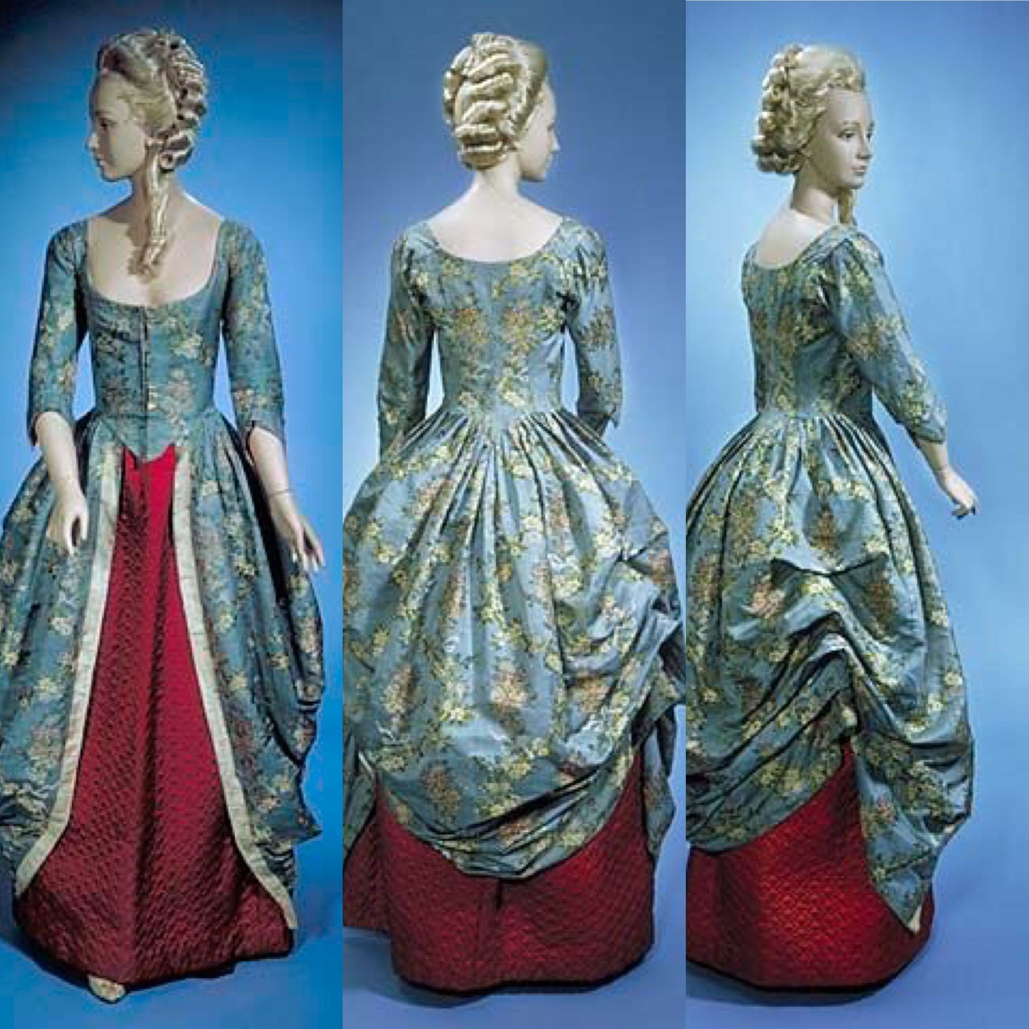 polonaise dress ca 1770 1785 via the smithsonian national museum of