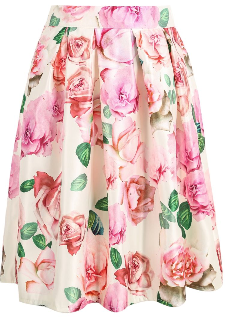 White+Rose+Print+Midi+Skirt+14.33 | Fashion | Pinterest | Ropa ...