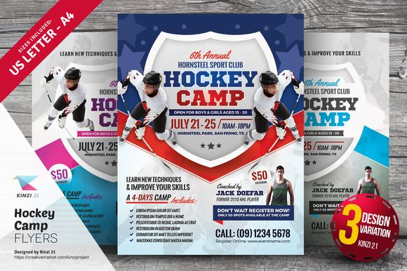 Hockey Camp Flyer Templates By Graphicsauthor  Templates