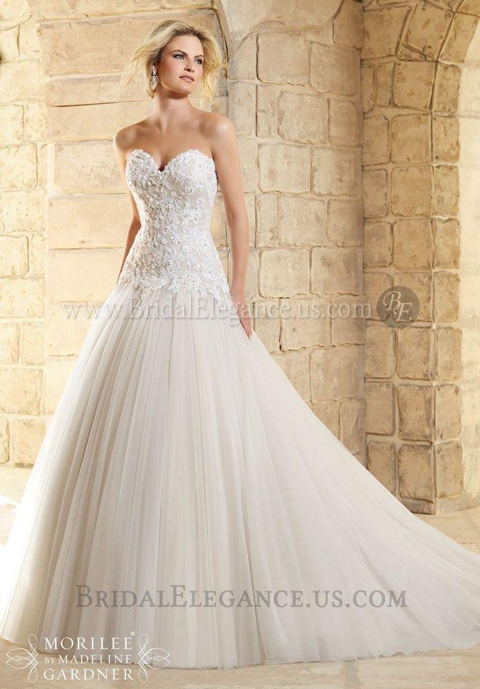 National Bridal Sale - Drop Waist Lace & Tulle BallGown | Wedding Gowns | Bridal Elegance