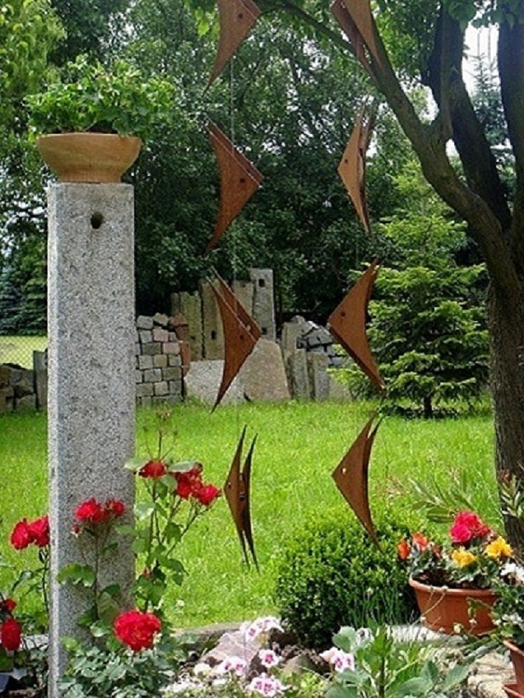 gartendeko edelstahl edelrost windspiel fr hling sommer. Black Bedroom Furniture Sets. Home Design Ideas
