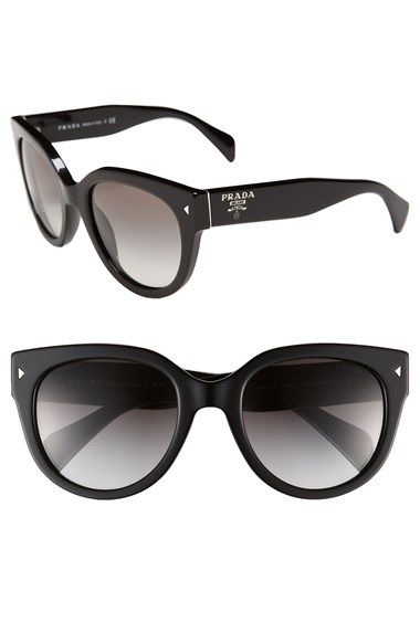 f6101779f0 Free shipping and returns on Prada 54mm Cat Eye Sunglasses at  Nordstrom.com. Retro-inspired cat-eye frames are updated in a bold  silhouette and fashioned ...