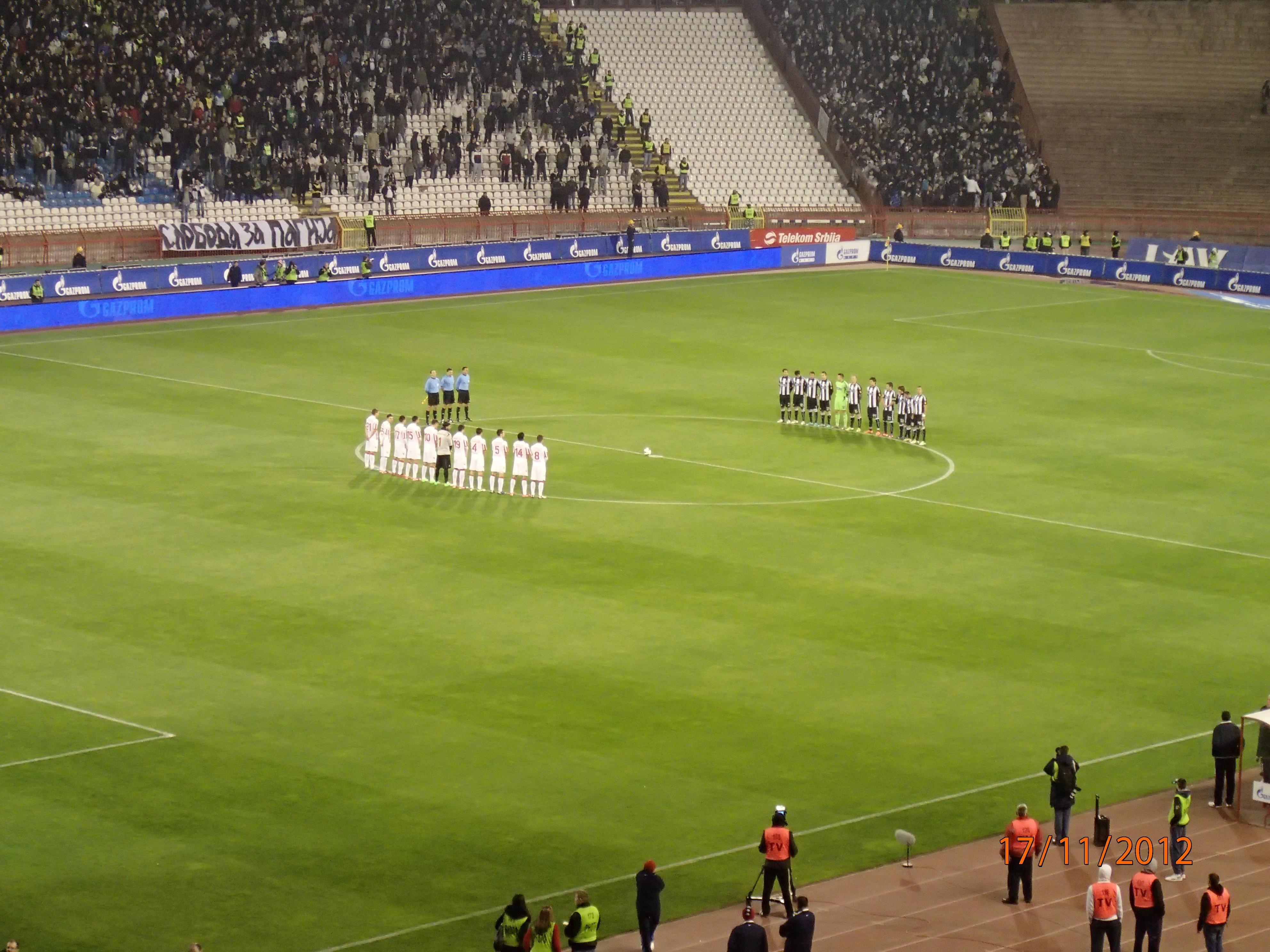 Crvena Zvezda 3 2 Partizan Soccer field, Field, Soccer
