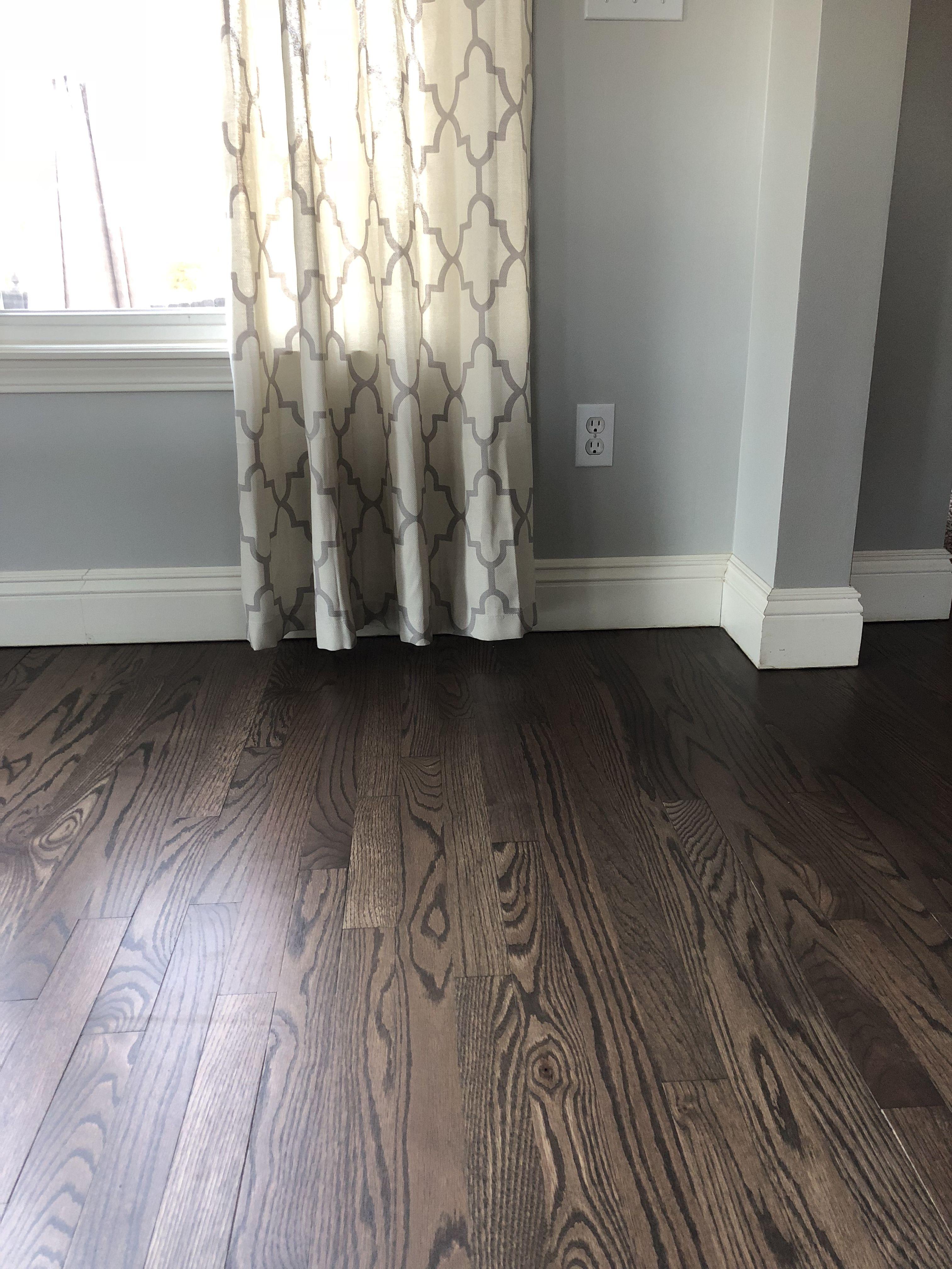 Refinished Original Hardwood Floors In A 50 50 Blend Of Espresso