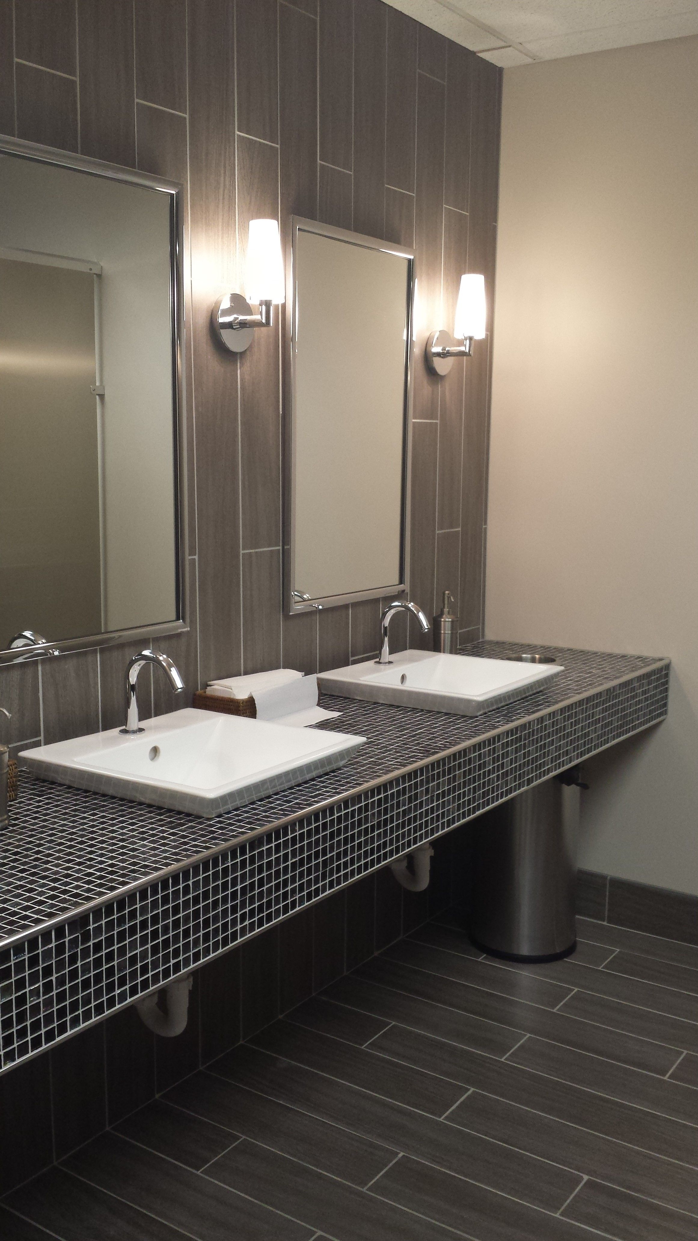 Public restroom shannon bellanca bellanca ketron tile restroom pinterest commercial - Office bathroom designs ...