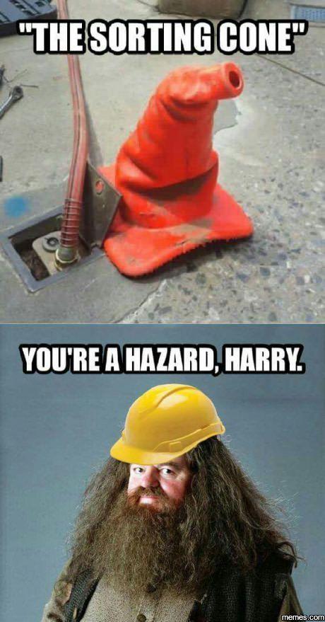 You're a Hazard, Harry.