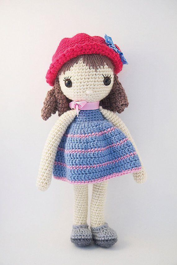 Amigurumi Crochet Dress : Amigurumi crochet doll - Pretty little girl with curls in ...