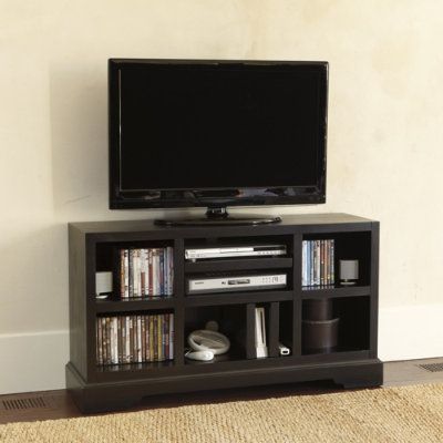 open media console... love the narrow depth.. geat for small space ...