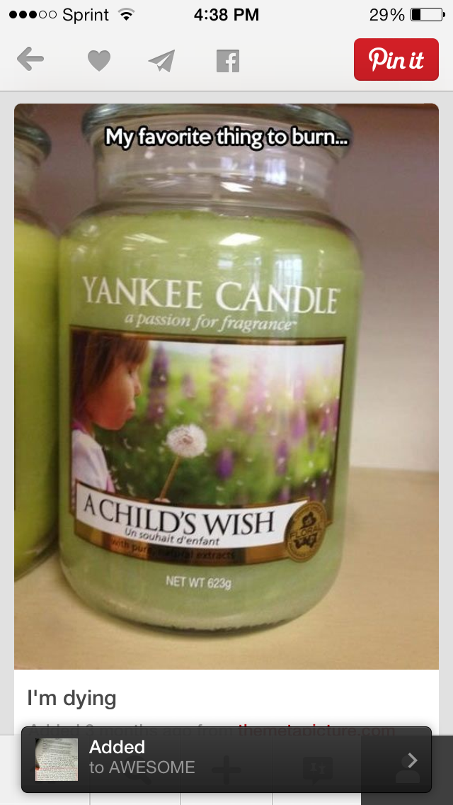 """""""my favorite thing to burn: a child's wish."""""""