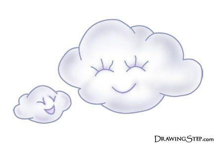 White Cartoon Clouds Drawing Cartoon Clouds Cloud Drawing Clouds