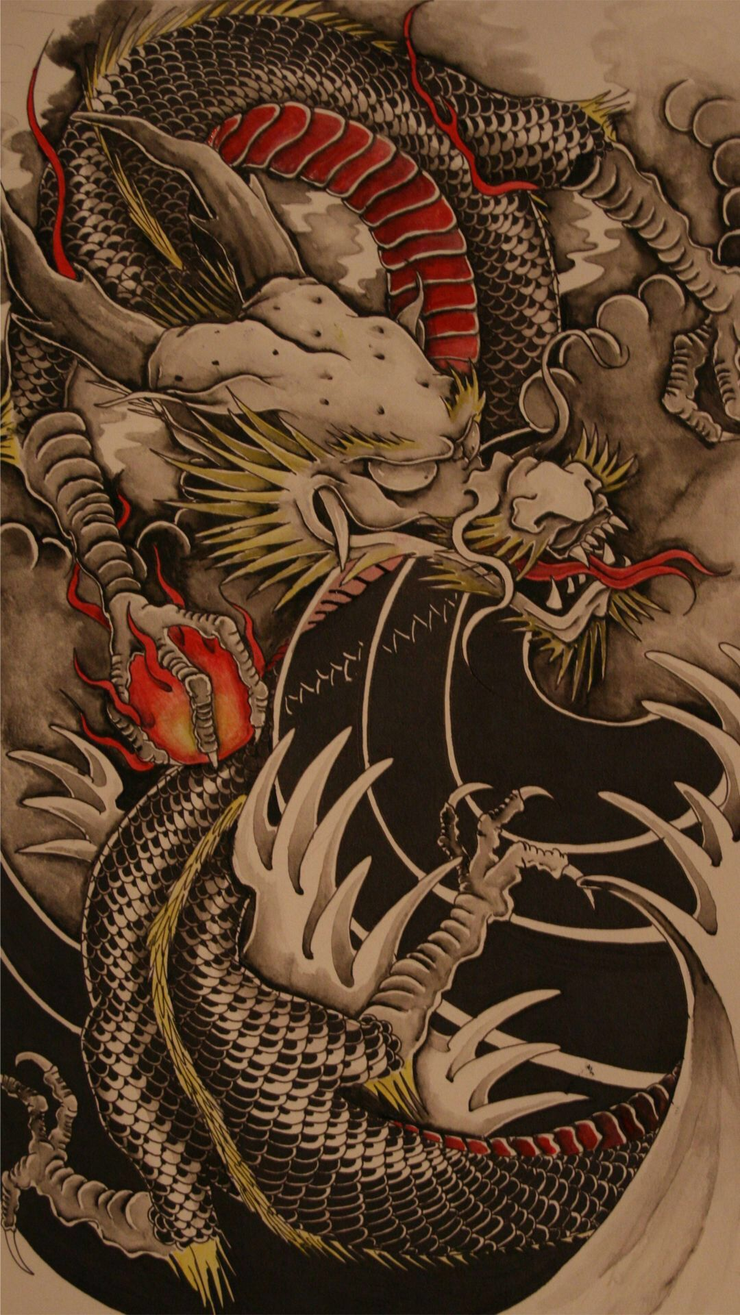 iPhone 6 Plus Wallpaper! Tato naga, Seni, Lukisan