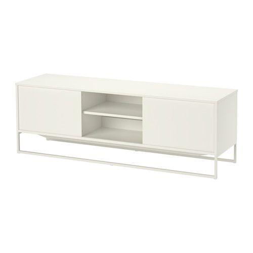 Tv bank weiß ikea  IKEA - HAGGE, TV-Bank, weiß, , Die Schiebetüren brauchen wenig ...