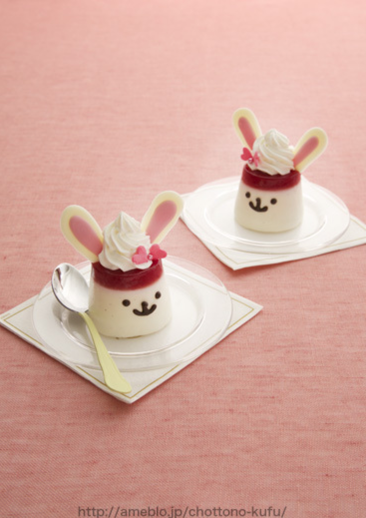 // Too cute bunny pudding //