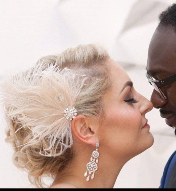 Wedding Fascinator Bridal Hair Clip Feather Hair Clip Wedding Comb Great Gatsby Ivory Fascinator Bridal Hair Fascinator Decorative