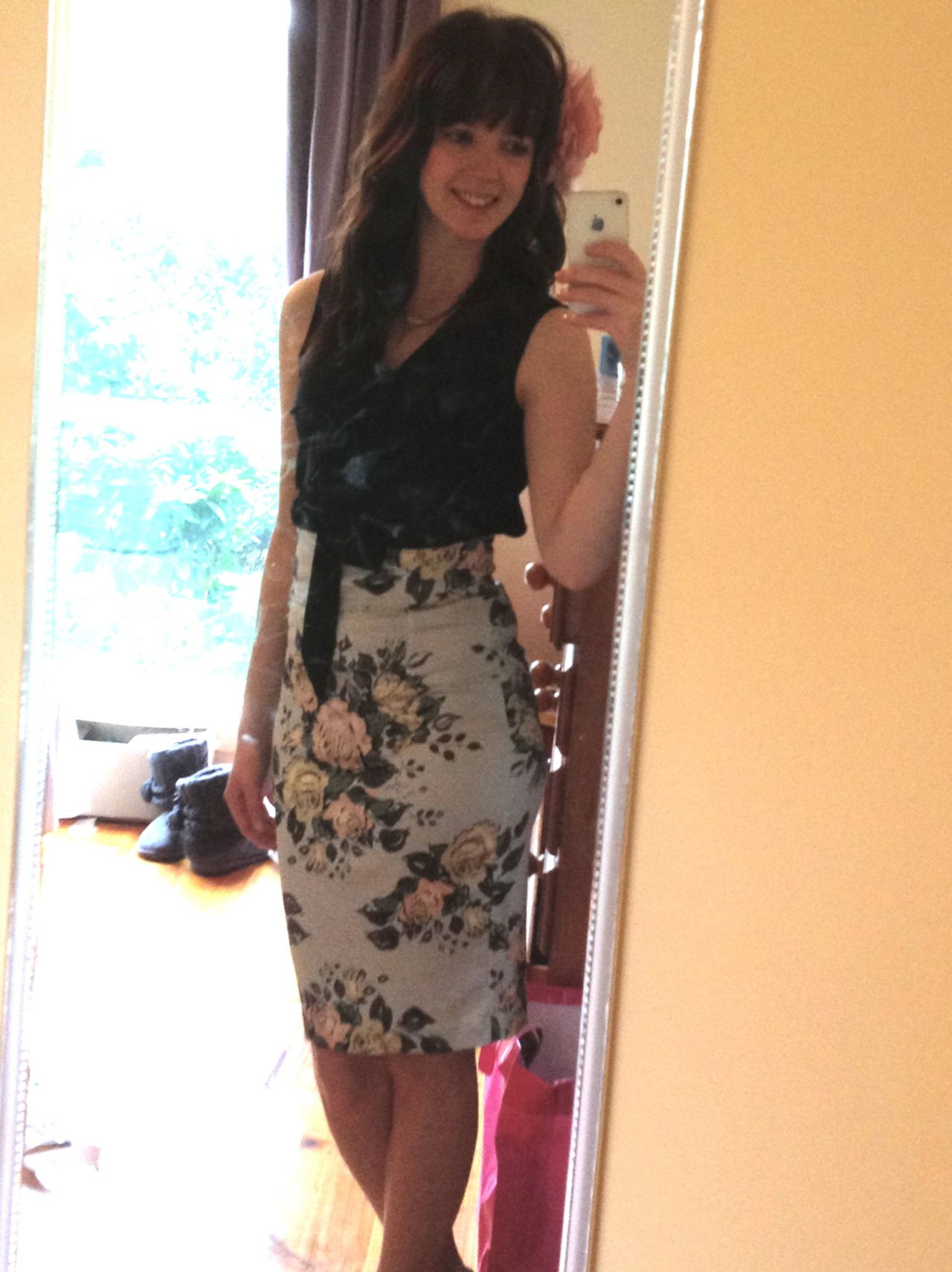 How to style you archive print Teaparty Le Chic Pencil Skirt!