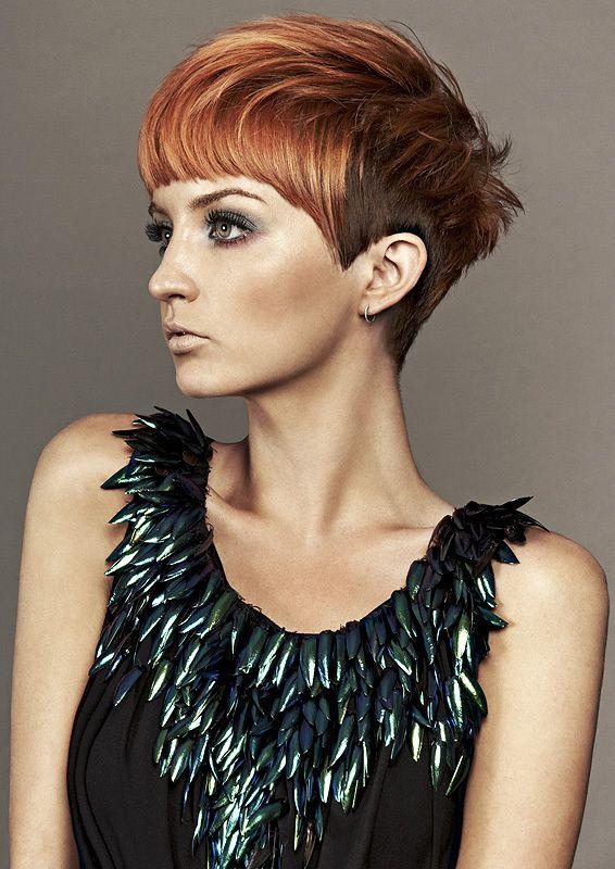 Kurzhaarfrisur In Rot Kupfer Haare Frisuren Haar Ideen Und