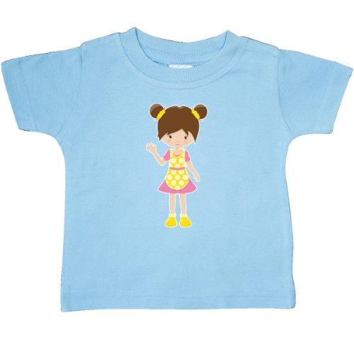 inktastic Girl in Yellow Sundress Toddler T-Shirt