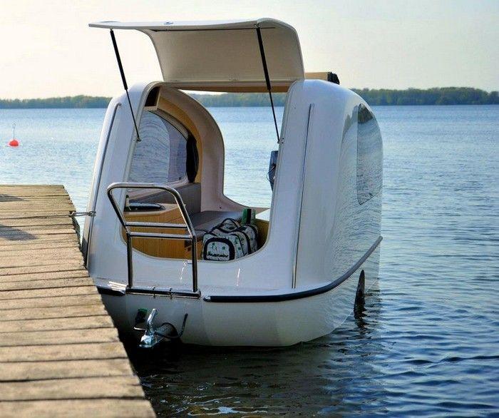 Sealander Amphibious Camping Trailer: It's A Camper, It's A Boat, It's Both